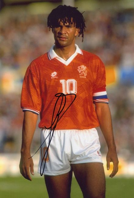 Ruud Gullit, Holland, Chelsea, Milan, signed 12x8 inch photo.